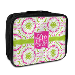 Pink & Green Suzani Insulated Lunch Bag (Personalized)