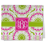 Pink & Green Suzani Kitchen Towel - Full Print (Personalized)