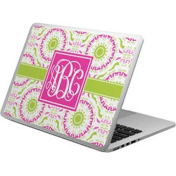 Pink & Green Suzani Laptop Skin - Custom Sized (Personalized)