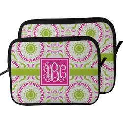 Pink & Green Suzani Laptop Sleeve / Case (Personalized)