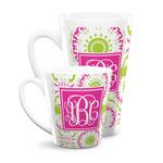 Pink & Green Suzani Latte Mug (Personalized)