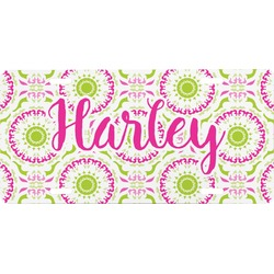 Pink & Green Suzani Front License Plate (Personalized)