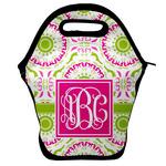 Pink & Green Suzani Lunch Bag w/ Monogram