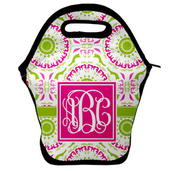 Pink & Green Suzani Lunch Bag (Personalized)