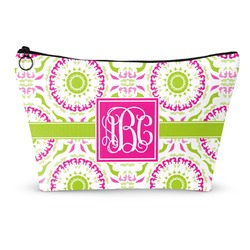 Pink & Green Suzani Makeup Bags (Personalized)