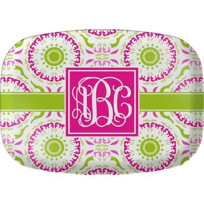 Pink & Green Suzani Melamine Platter (Personalized)