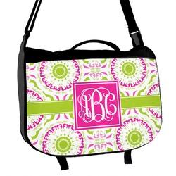 Pink & Green Suzani Messenger Bag (Personalized)