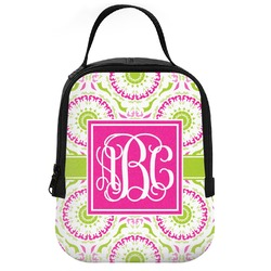 Pink & Green Suzani Neoprene Lunch Tote (Personalized)