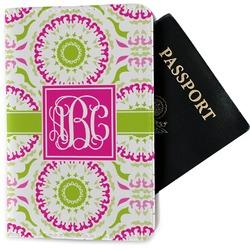 Pink & Green Suzani Passport Holder - Fabric (Personalized)