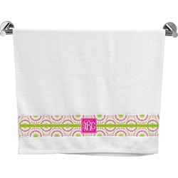 Pink & Green Suzani Bath Towel (Personalized)