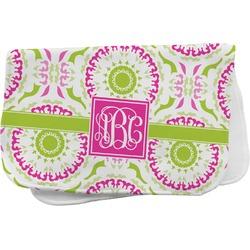 Pink & Green Suzani Burp Cloth (Personalized)