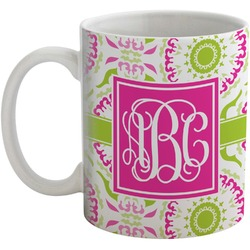 Pink & Green Suzani Coffee Mug (Personalized)