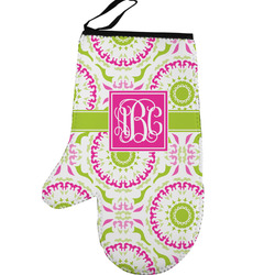 Pink & Green Suzani Left Oven Mitt (Personalized)
