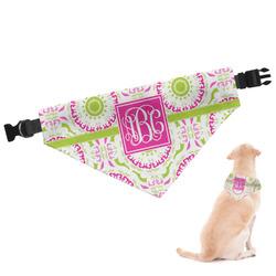 Pink & Green Suzani Dog Bandana (Personalized)