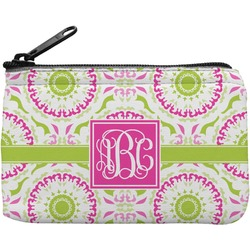 Pink & Green Suzani Rectangular Coin Purse (Personalized)