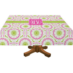 "Pink & Green Suzani Tablecloth - 58""x102"" (Personalized)"