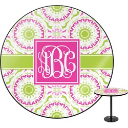 Pink & Green Suzani Round Table (Personalized)
