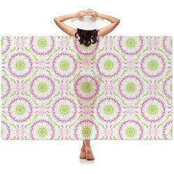 Pink & Green Suzani Sheer Sarong (Personalized)