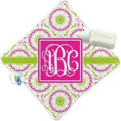 Pink & Green Suzani Security Blanket (Personalized)