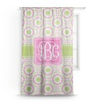 Pink & Green Suzani Sheer Curtains (Personalized)