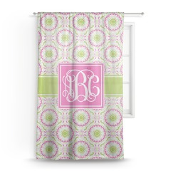 "Pink & Green Suzani Sheer Curtain - 50""x84"" (Personalized)"