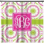 Pink & Green Suzani Shower Curtain (Personalized)