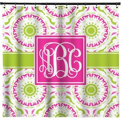 Pink & Green Suzani Shower Curtain (Personalized)