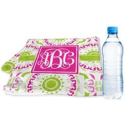 Pink & Green Suzani Sports & Fitness Towel (Personalized)