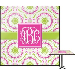 Pink & Green Suzani Square Table Top (Personalized)