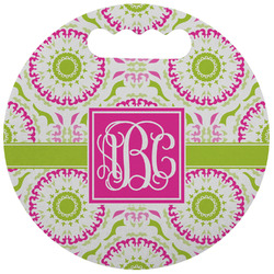 Pink & Green Suzani Stadium Cushion (Round) (Personalized)