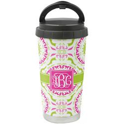 Pink & Green Suzani Stainless Steel Travel Mug (Personalized)