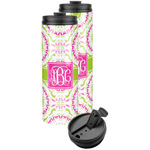 Pink & Green Suzani Stainless Steel Skinny Tumbler (Personalized)