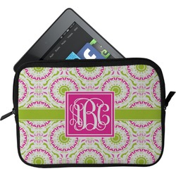 Pink & Green Suzani Tablet Case / Sleeve (Personalized)