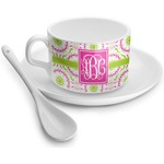 Pink & Green Suzani Tea Cups (Personalized)