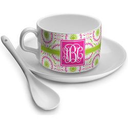 Pink & Green Suzani Tea Cup - Single (Personalized)