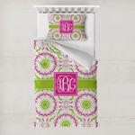 Pink & Green Suzani Toddler Bedding w/ Monogram