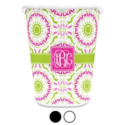 Pink & Green Suzani Waste Basket (Personalized)