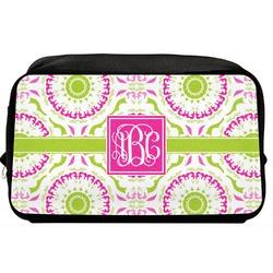 Pink & Green Suzani Toiletry Bag / Dopp Kit (Personalized)