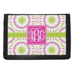 Pink & Green Suzani Trifold Wallet (Personalized)