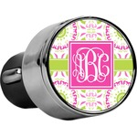 Pink & Green Suzani USB Car Charger (Personalized)
