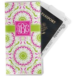 Pink & Green Suzani Travel Document Holder