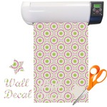 Pink & Green Suzani Vinyl Sheet (Re-position-able)