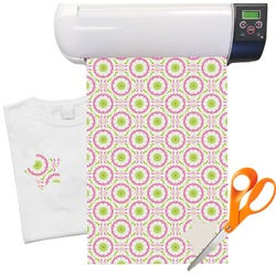 Pink & Green Suzani Heat Transfer Vinyl Sheet (12