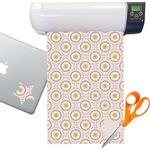 Pink & Green Suzani Sticker Vinyl Sheet (Permanent)