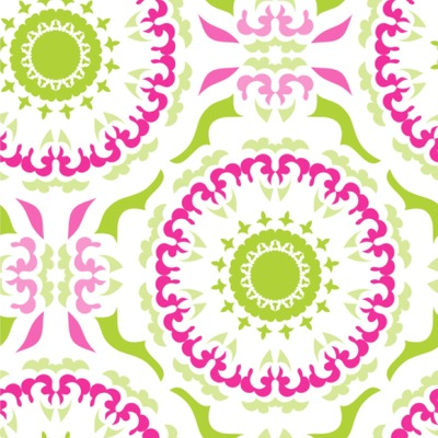 Pink & Green Suzani Wallpaper & Surface Covering