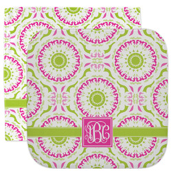 Pink & Green Suzani Facecloth / Wash Cloth (Personalized)