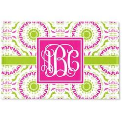Pink & Green Suzani Woven Mat (Personalized)