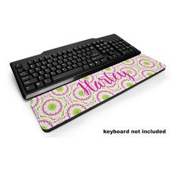 Pink & Green Suzani Keyboard Wrist Rest (Personalized)