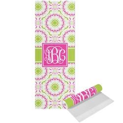 Pink & Green Suzani Yoga Mat - Printed Front (Personalized)