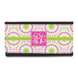 Pink & Green Suzani Leatherette Ladies Wallet (Personalized)